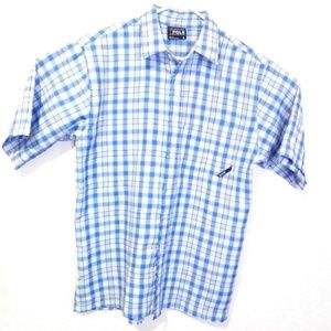 South Pole Blue and white shirt short sleeve L